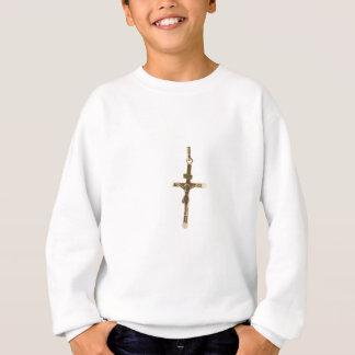 Het dwars horizontale goud van Jesus-Christus Trui