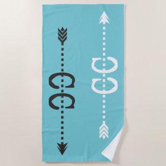 Het dwars Lopen van het Land themed de Handdoek