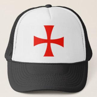 Het DwarsRood van Templar van ridders Trucker Pet