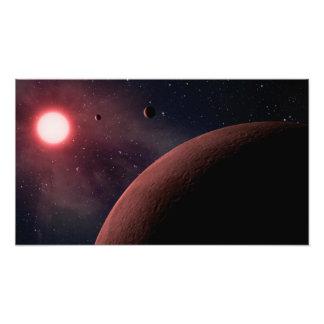 Het dwerg RuimteArt. van de Planeten van de Ster V Foto Afdrukken