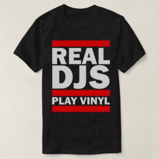 Het echte (DONKERE) Vinyl van het Spel Djs T Shirt
