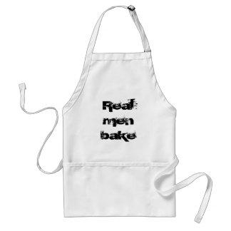 Het echte man bakt standaard schort