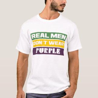 Het echte Man draag Paars niet T Shirt