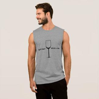 Het echte man drink wijn grappig overhemd t shirt