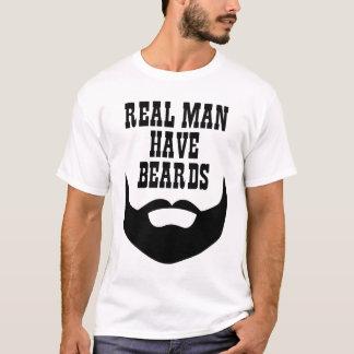 Het echte Man heeft Baarden T Shirt