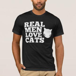 Het echte Man houdt van Katten T Shirt