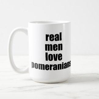 Het echte Man houdt van Pomeranians Koffiemok