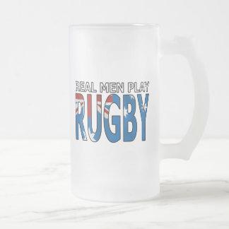 Het echte Man speelt Rugby Australië Matglas Bierpul