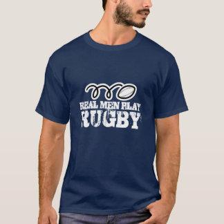 Het echte man speelt rugbyoverhemd t shirt