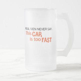 Het echte Man zegt nooit Deze Auto te Snel is! Matglas Bierpul