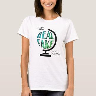 Het echte Valse Wereldbol van het Nieuws T Shirt