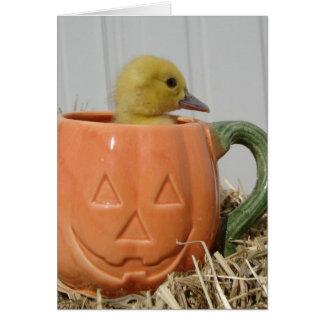 Het Eendje van Halloween Kaart