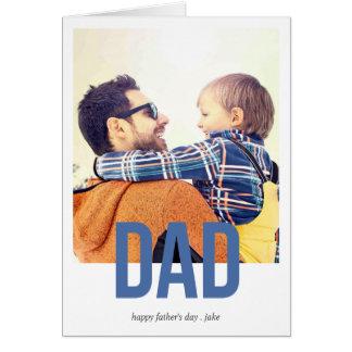 Het eenvoudig Gewaagde Wenskaart van het Vaderdag