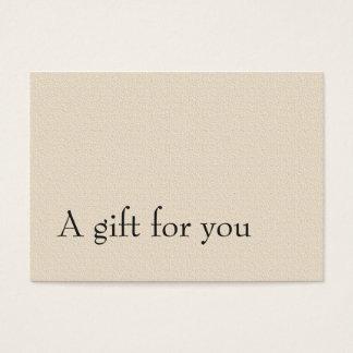 Het eenvoudige Elegante Certificaat van de Gift Visitekaartjes