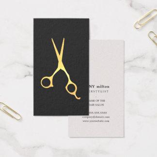 Het eenvoudige Elegante Grijze Gouden Haar van de Visitekaartjes