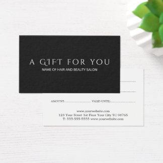 Het eenvoudige Elegante Zwarte Witte Certificaat Visitekaartjes