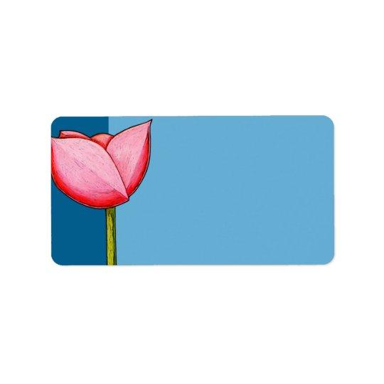 Het eenvoudige Etiket van het Adres van Bloemen Addressticker