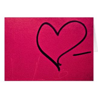 Het eenvoudige Hart van de Valentijnsdag Wenskaart