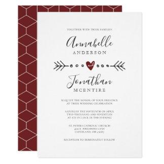 Het eenvoudige Huwelijk van de Rode Wijn van het Kaart
