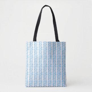 Het eenvoudige Lichtblauwe Patroon van het Symbool Draagtas