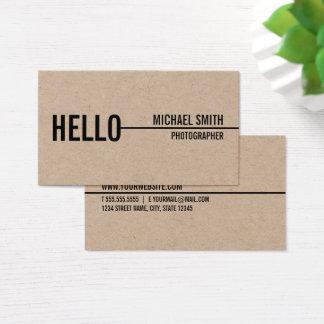 Het Eenvoudige Moderne Minimalistische Kraftpapier Visitekaartjes