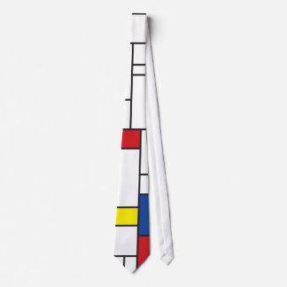 Het eenvoudige Mondrian Minimalist DE Stijl Modern Club Stropdas