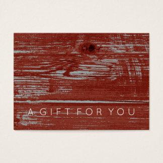 Het eenvoudige Rode Certificaat van de Gift van de Visitekaartjes