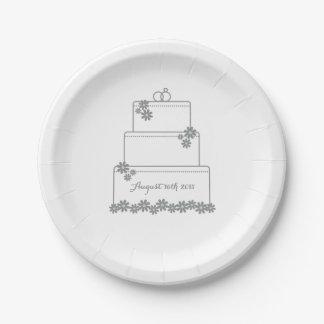 Het eenvoudige Witte Bord van het Dessert van de