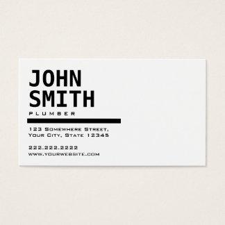 Het eenvoudige Zwarte & Witte Visitekaartje van de Visitekaartjes