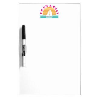 Het eenzame Eiland op een Boot Whiteboard