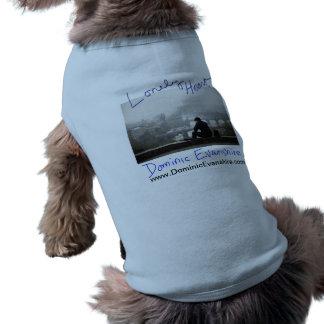 Het eenzame Van een hond T-shirt van het Hart