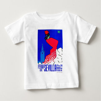 Het Eerlijke Poster van Sevilla April van Spanje Baby T Shirts