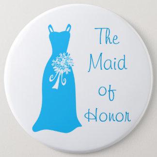 Het eerste bruidsmeisje ronde button 6,0 cm