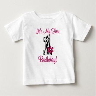 Het eerste Overhemd van de Meisjes van de Druk van Baby T Shirts