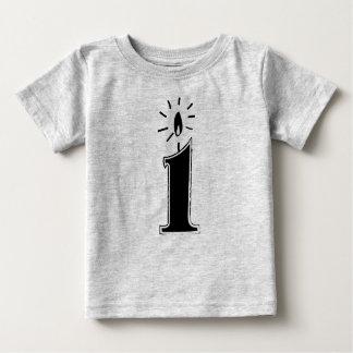 Het eerste Overhemd van de Verjaardag Baby T Shirts