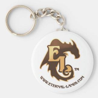 Het eeuwige Logo Bruine Keychain van het Land, Sleutelhanger