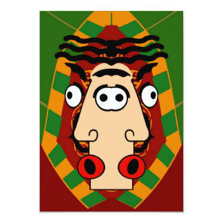 Het Egyptische Gezicht van het kubisme 12,7x17,8 Uitnodiging Kaart