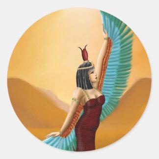 Het Egyptische van de Heidense digitale art. de Ronde Sticker