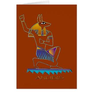 Het Egyptische Wenskaart van de God ANUBIS