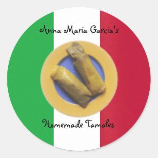 Het eigengemaakte Mexicaanse Tamales Etiket van