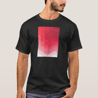 Het eigentijdse Rode Ontwerp van de Meetkunde T Shirt