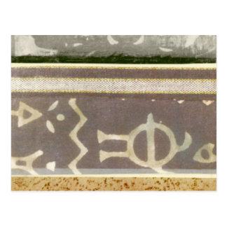 Het eigentijdse Stammen Schilderen van het Patroon Briefkaart