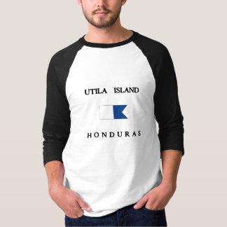 Het Eiland Alpha- Honduras van Utila duikt Vlag T Shirt