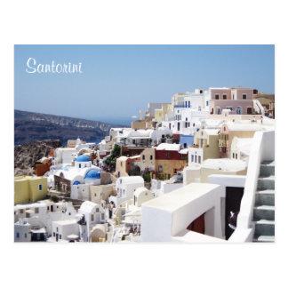 Het eiland Griekenland van Santorini Briefkaart