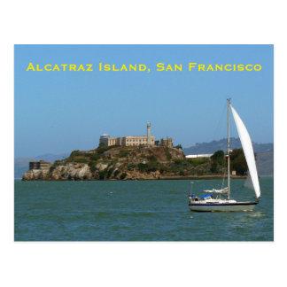 Het Eiland San Francisco van Alcatraz Briefkaart
