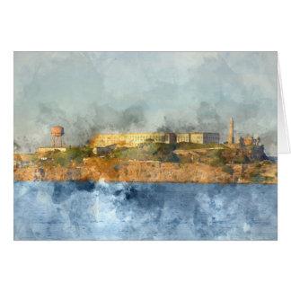 Het Eiland van Alcatraz in San Francisco Kaart