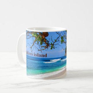 Het eiland van de Maldiven door magazijnmeester Koffiemok