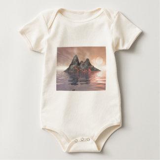 Het Eiland van de vulkaan Baby Shirt