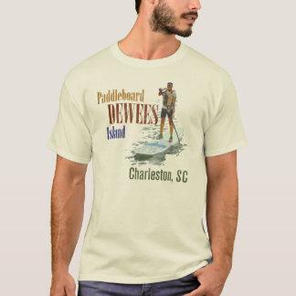 Het Eiland van Dewees van Paddleboard, Charleston, T Shirt