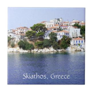 Het Eiland van Skiathos, de Tegel van Griekenland Tegeltje